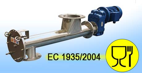Food-grade and EC 1935/2004-compliant and Certified Equipment